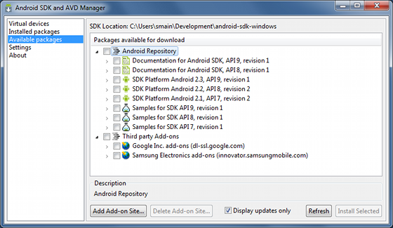 Adding SDK Components | Android Developers